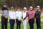 (左から)中嶋常幸、畑岡奈紗、小祝さくら、勝みなみ、酒井美紀、古閑美保の参加プロ