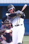 6回、2点適時二塁打を放つ阪神・陽川=神宮球場(撮影・宮沢宗士郎)